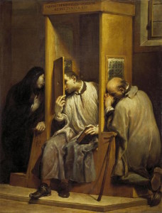 Saint John of Nepomuk Hearing the Confession of the Queen of Bohemia by Giuseppe Maria Crespi, c. 1740 [Galleria Sabauda,Turin]